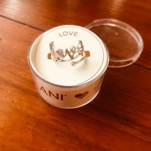 "New in box Alex and Ani ""LOVE"" ring"
